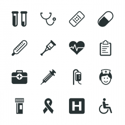Healthcare and Medicine Silhouette Icons