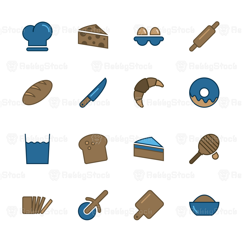 Bakery Icons - Outline Series
