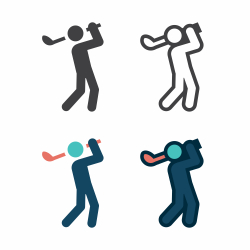 Golf Swing Icon
