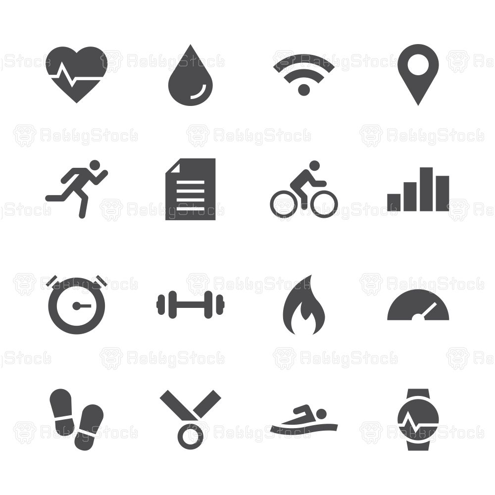 Fitness Tracker Icon - Gray Series