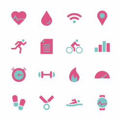 Fitness Tracker Icon - Color Series