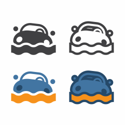 Car Flood Icon