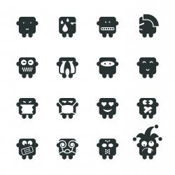 Silhouette Emoticons | Set 7