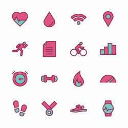 Fitness Tracker Icon - Outline Series