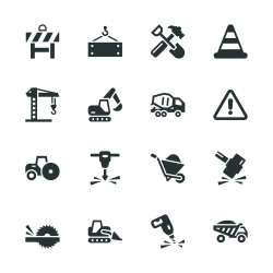 Construction Silhouette Icons