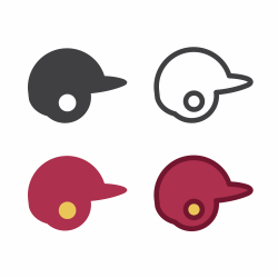 Baseball Helmet Icon