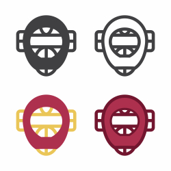 Baseball Face Guard Icon