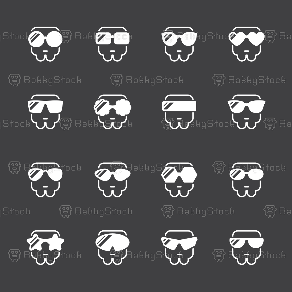 Sunglasses Icons - White Series
