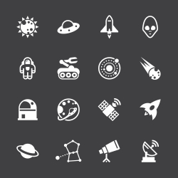 Space Icons - White Series