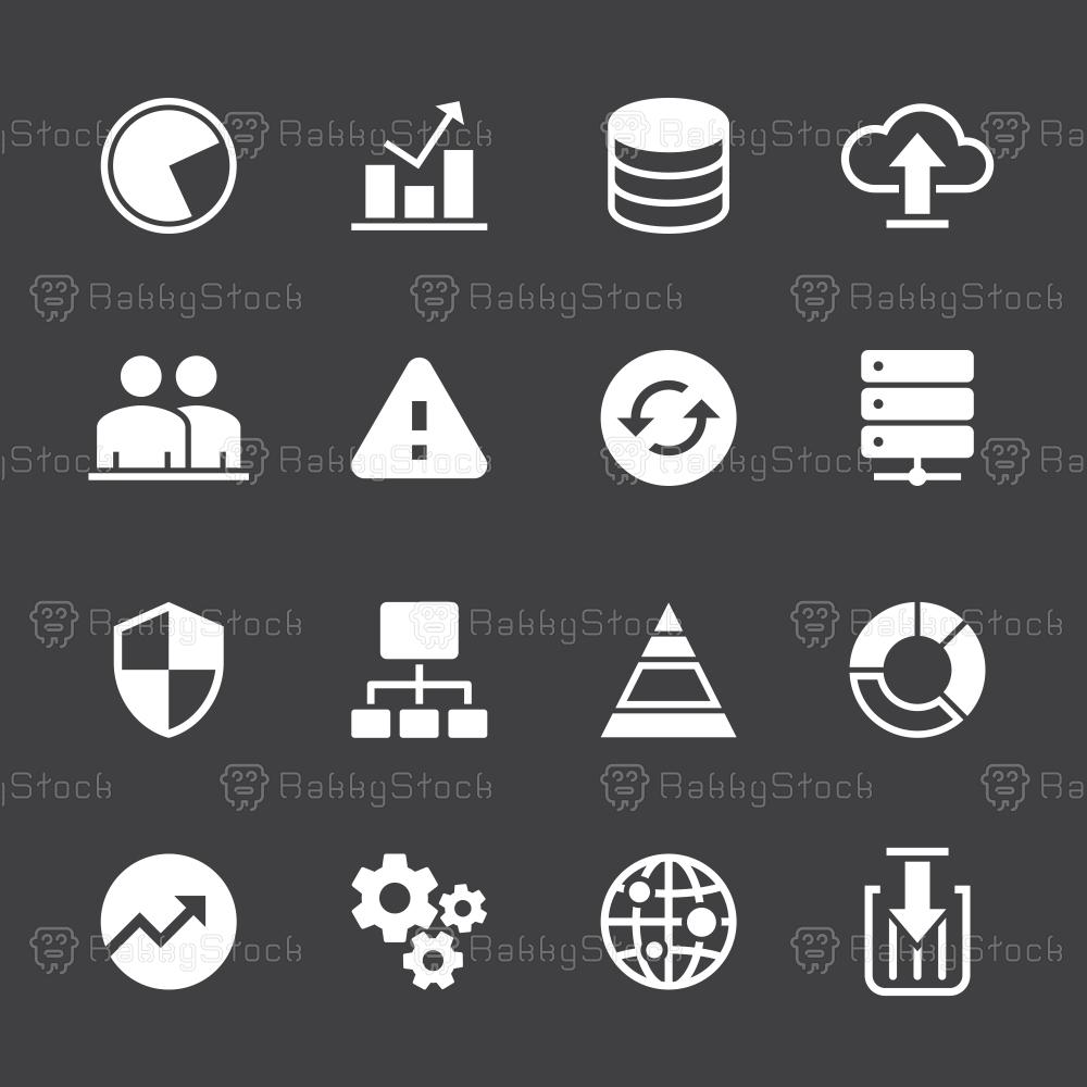 Database Management Icons - White Series