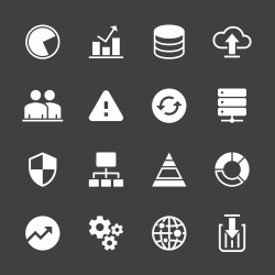 Database Management Icons - White Series
