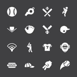 Baseball Icon - White Series