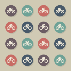 Cycling Emoticons - Color Circle Series