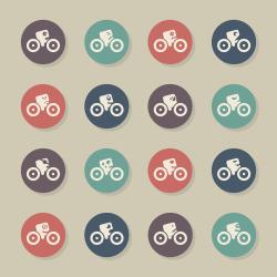Cycling Emoticons - Color Circle Series