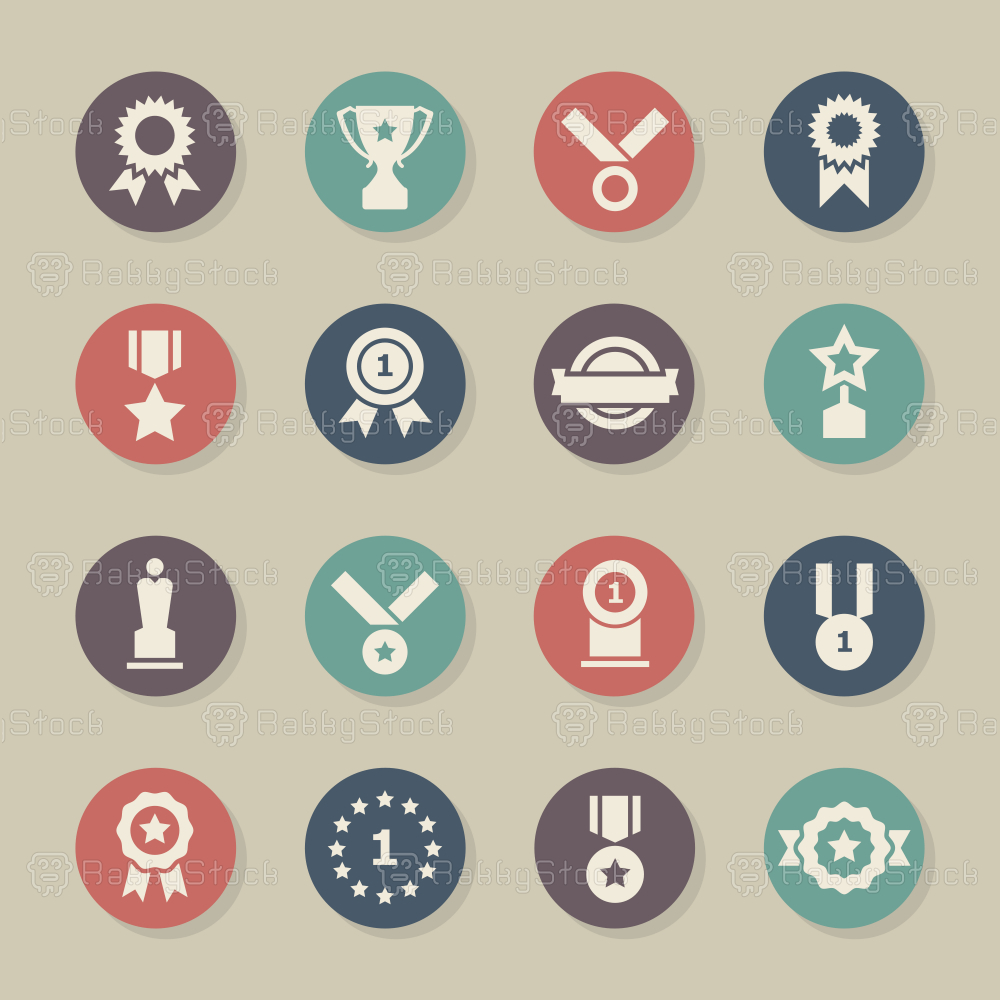 Award Icons - Color Circle Series