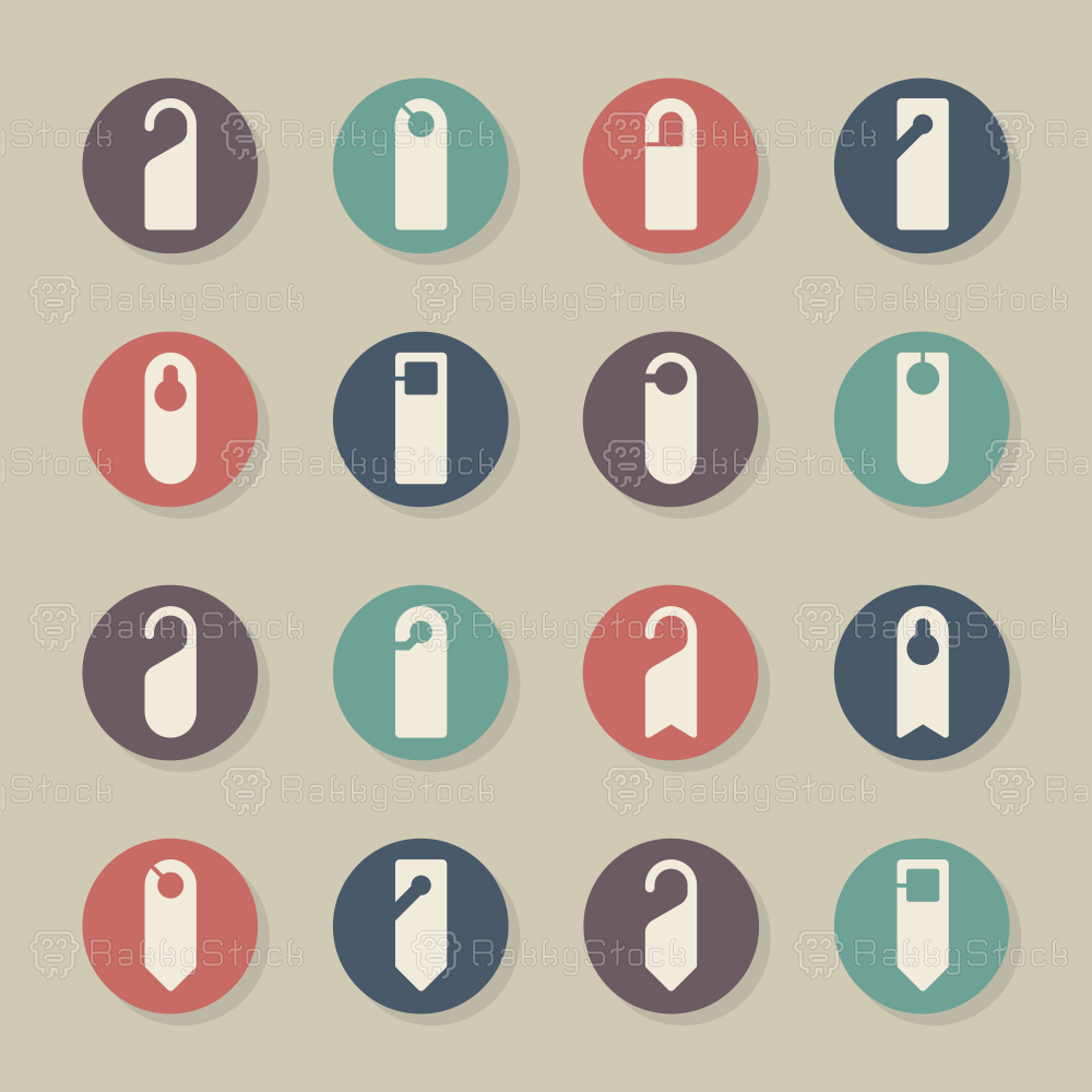 Door Hanger Sign Icons - Color Circle Series