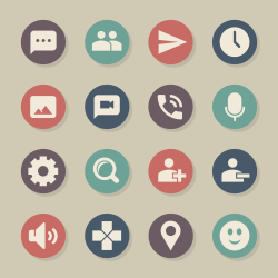 Chat App Icons - Color Circle Series