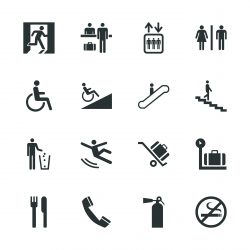 Information Sign Silhouette Icons