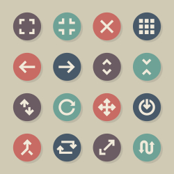 Navigation Icons - Color Circle Series