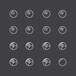 Pool Balls Icons - White Line Series