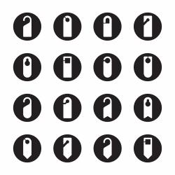 Door Hanger Sign Icons - Black Circle Series