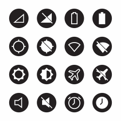 Devices Icons - Black Circle Series