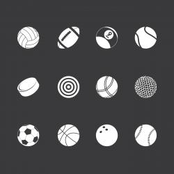 Sports Icons - White Series | EPS10