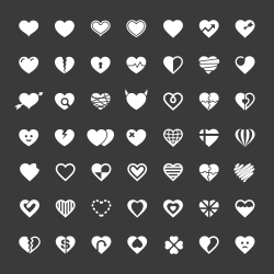 Heart Icon 49 Icons - White Series