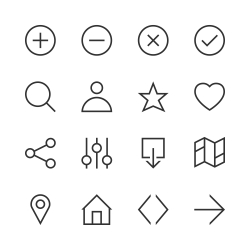 Basic Icon Set 1 - Line Series