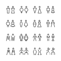 Men & Women Icon - Line Series