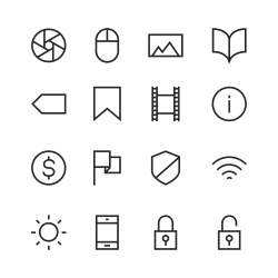 Basic Icon Set 3 - Line Series