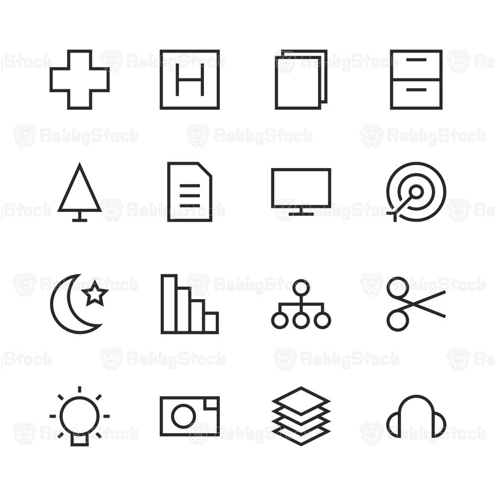 Basic Icon Set 4 - Line Series