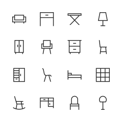 Furniture Icon - Line Series