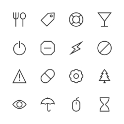 Basic Icon Set 7 - Line Series
