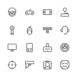 Gamer Icon - Line Series