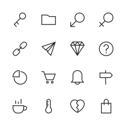 Basic Icon Set 8 - Line Series