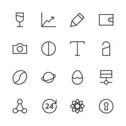 Basic Icon Set 10 - Line Series