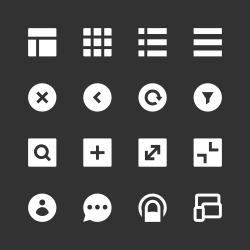 Responsive Web Icon - White Series