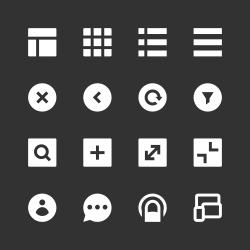 Responsive Web Icon - White Series