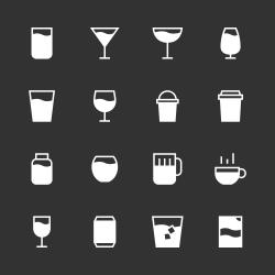 Drink Icon Set 1 - White Series