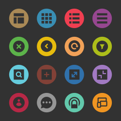 Responsive Web Icon - Color Circle Series