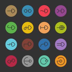 Heart Arrow Icon - Color Circle Series