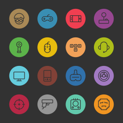 Gamer Icon - Color Circle Series