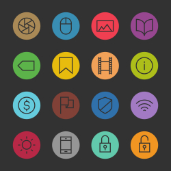 Basic Icon Set 3 - Color Circle Series