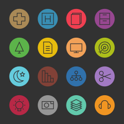 Basic Icon Set 4 - Color Circle Series