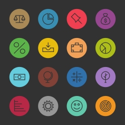 Basic Icon Set 6 - Color Circle Series