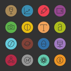 Basic Icon Set 10 - Color Circle Series