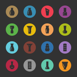 Vase Icons - Color Circle Series