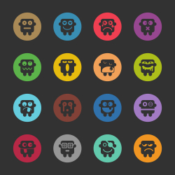 Emoticons Set 1 - Color Circle Series