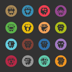 Emoticons Set 2 - Color Circle Series